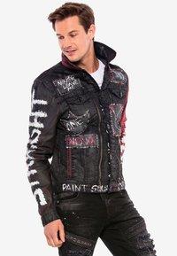 Cipo & Baxx - MIT NIETEN - Denim jacket - black - 5