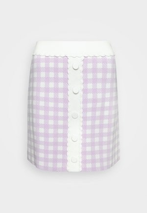 JIMMY - Mini skirt - parme