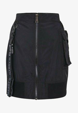 JUNGLE PATCH  - Pencil skirt - black beauty