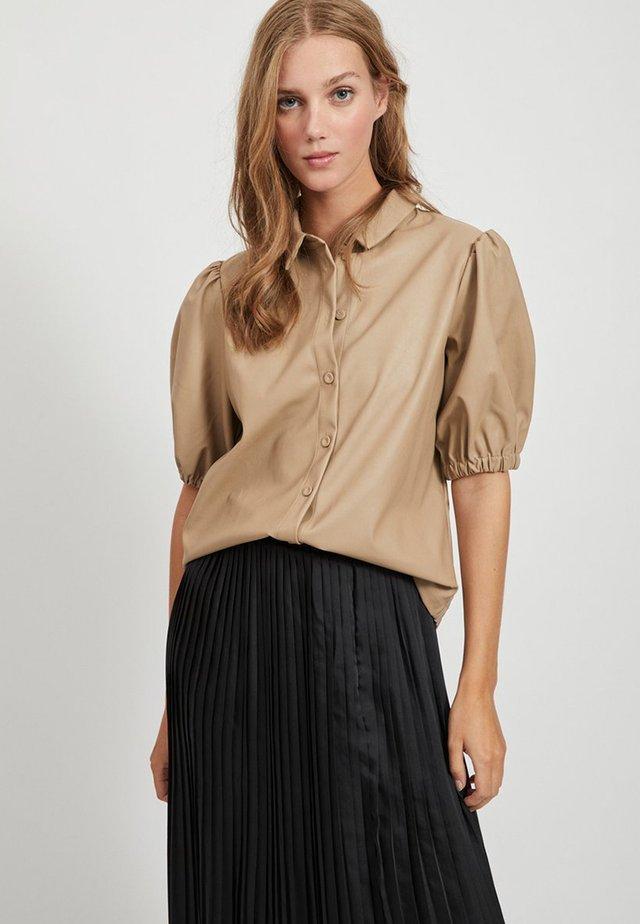 PUFFÄRMEL - Camisa - simply taupe