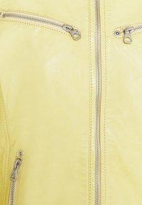 Gipsy - CHARLEE LAORV - Kožená bunda - pastel yellow - 5