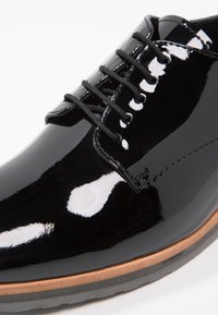 Anna Field - LEATHER FLAT SHOES - Lace-ups - black - 2