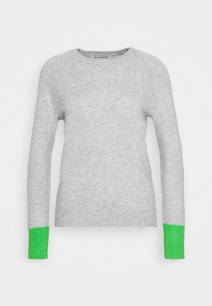 CLASSIC CREW NECK - Jumper - light grey/green
