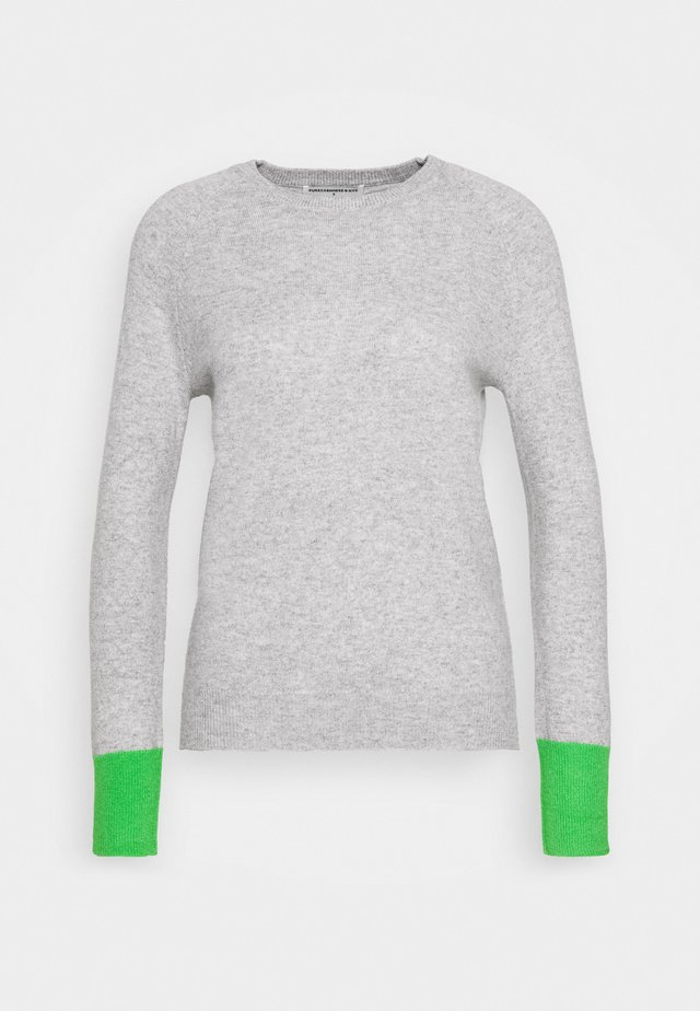CLASSIC CREW NECK - Pullover - light grey/green