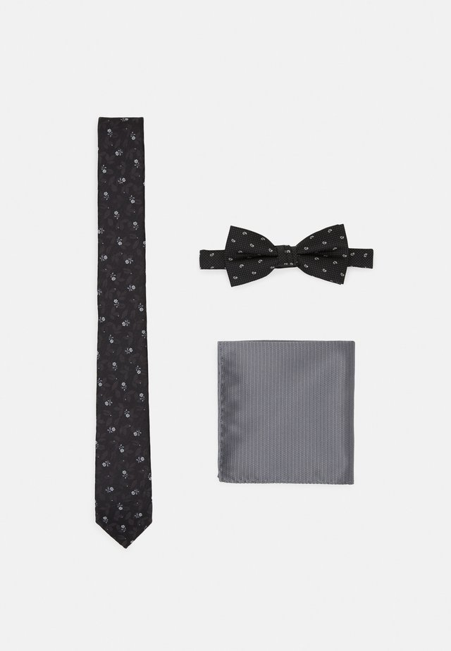JACNECKTIE GIFT BOX SET - Kapesník do obleku - black