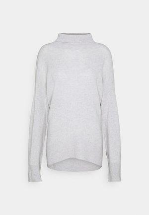 HIGH NECK OVERSIZED - Jumper - light grey