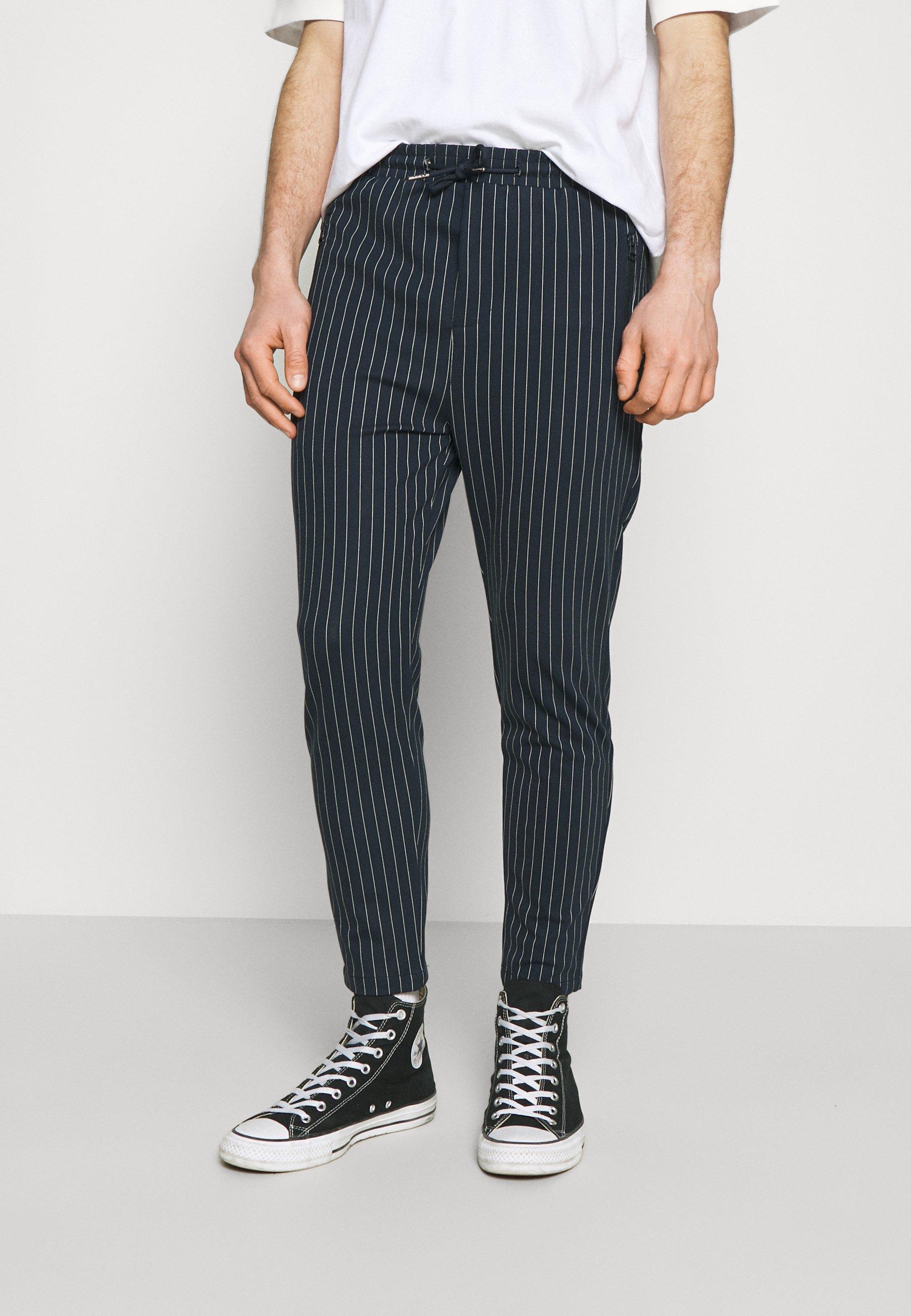 Homme PONTE ELASTIC PANTS CROPPED - Pantalon classique
