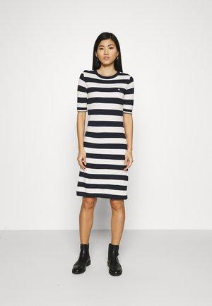 BAR STRIPED DRESS - Žerzejové šaty - evening blue
