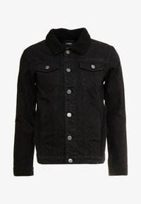 Burton Menswear London - BORG - Giacca di jeans - black - 4