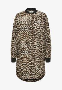 Kaffe - Winter coat - light brown leo print - 4