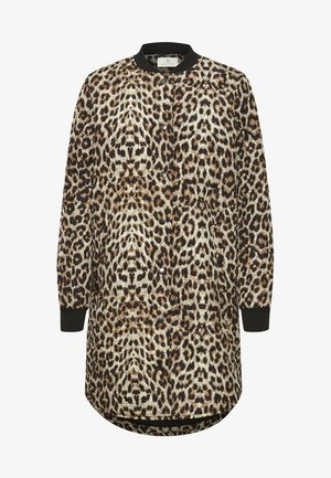 Winter coat - light brown leo print