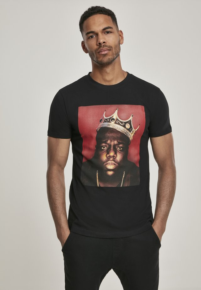 BIG CROWN - T-shirt imprimé - black