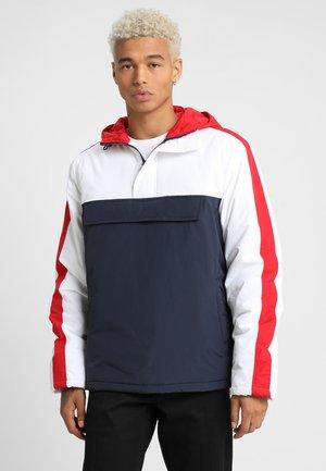 HOODED JACKET - Light jacket - navy/white/firered