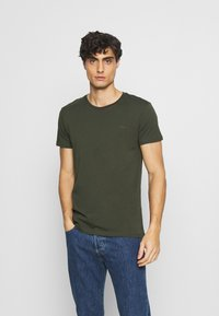 LTB - 3 Pack - Basic T-shirt - black/ olive/ grey melange - 5