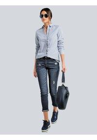 Alba Moda - Button-down blouse - marineblau weiß - 1