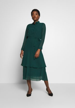 TIERED SHIRT DRESS - Day dress - green