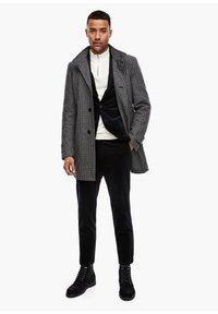 s.Oliver BLACK LABEL - Classic coat - dark blue check - 1