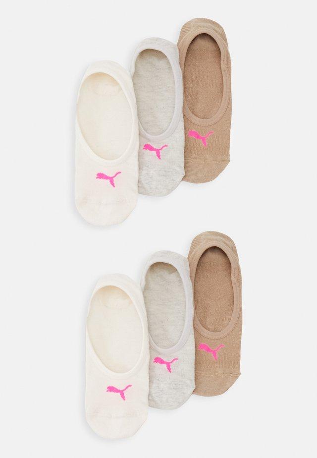 FOOTIE 6 PACK UNISEX - Trainer socks - beige