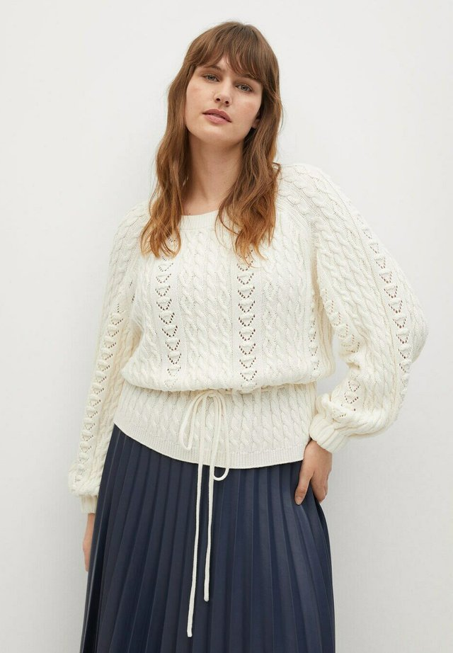 TIME - Sweter - white