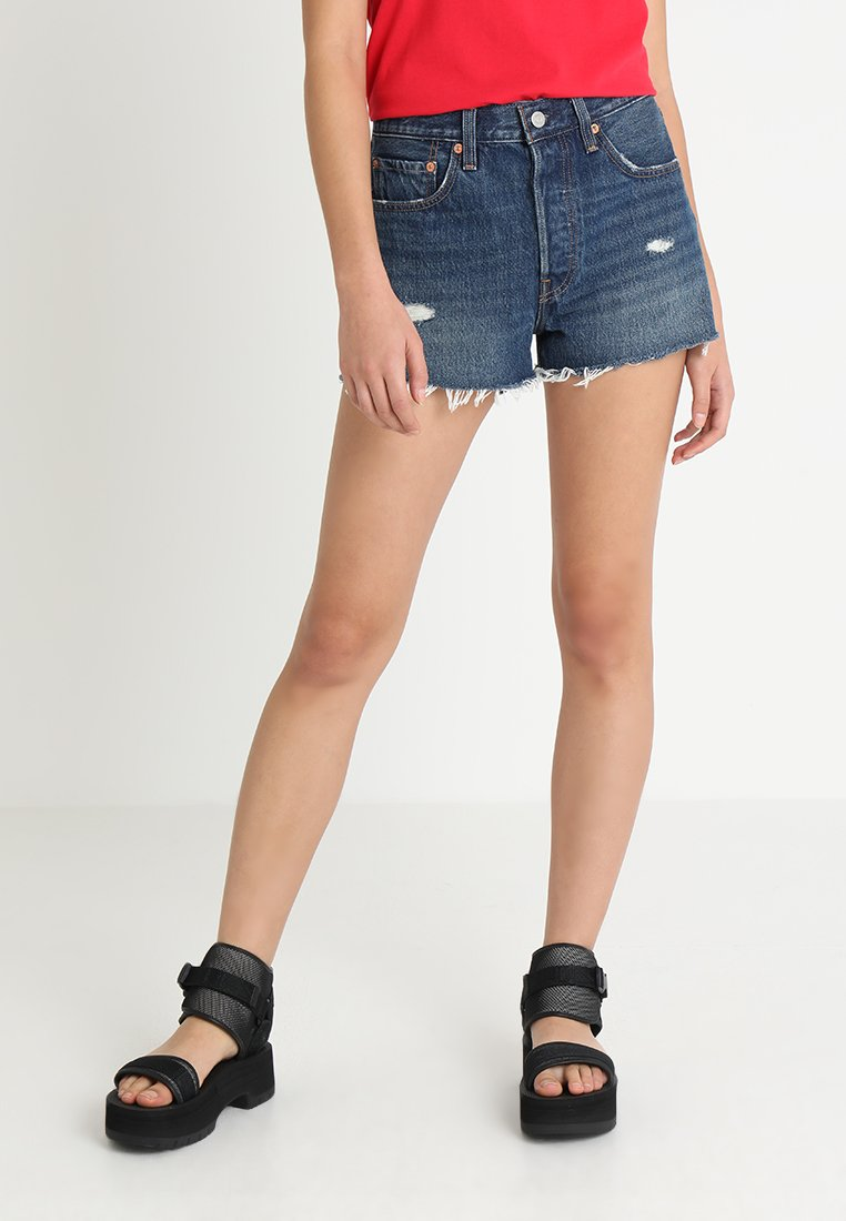 Levi's® - 501 HIGH RISE - Jeans Shorts - silver lake