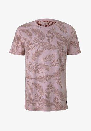 MIT PALMENPRINT - Print T-shirt - purple