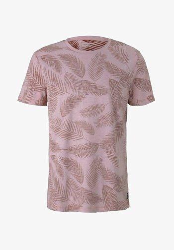 MIT PALMENPRINT - T-shirt con stampa - purple