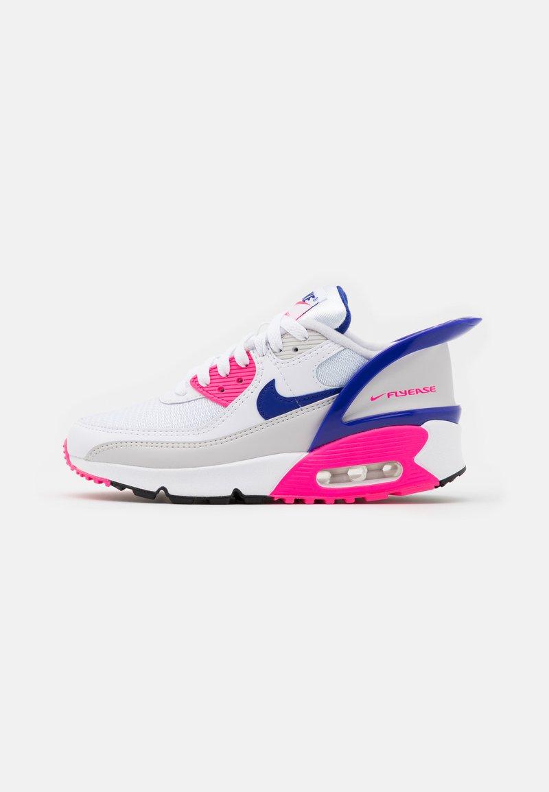 Nike Sportswear - AIR MAX 90 FLYEASE  UNISEX - Tenisky - white/concord/pink glow/zen grey