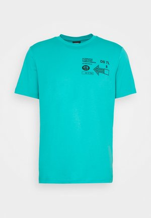 T-JUST-A39 MAGLIETTA UNISEX - Print T-shirt - turquoise