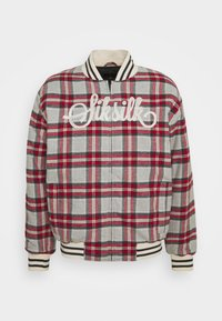 SIKSILK - CHECK - Giubbotto Bomber - grey/red