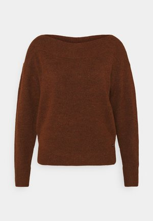 CARMEN - Jumper - rust orange melange
