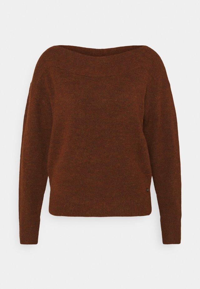 CARMEN - Sweter - rust orange melange