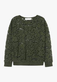 Rosemunde - T-SHIRT LS - Langærmede T-shirts - black green - 0