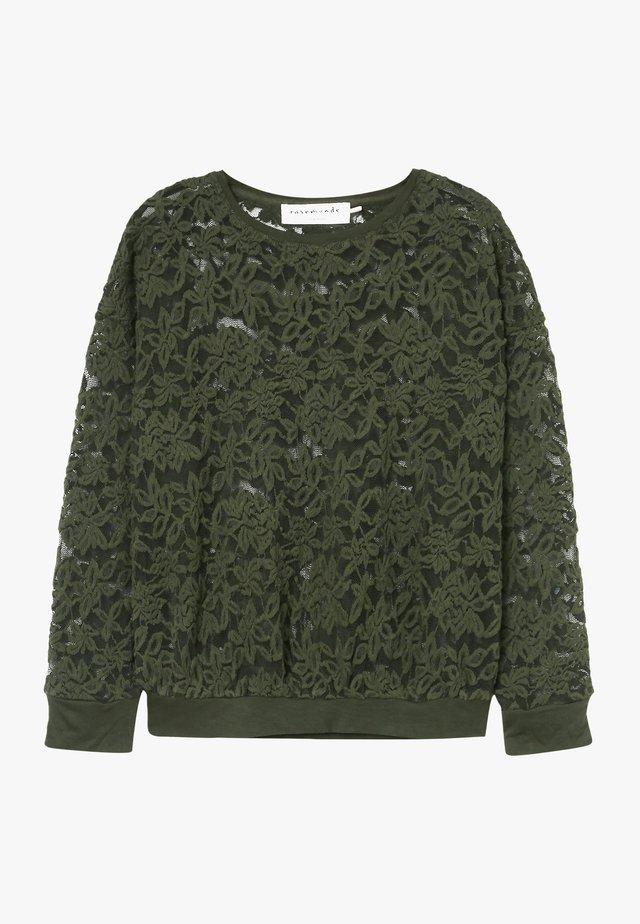 T-SHIRT LS - T-shirt à manches longues - black green