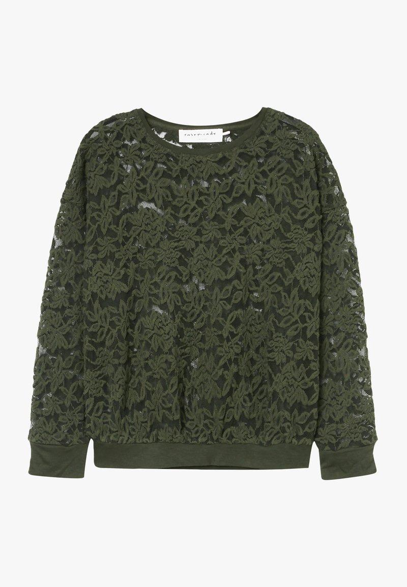 Rosemunde - T-SHIRT LS - Langærmede T-shirts - black green
