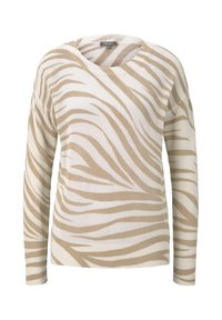 mine to five TOM TAILOR - IM ZEBR - Jumper - ecru zebra design - 0