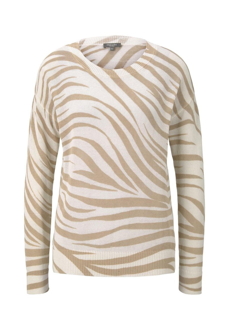 mine to five TOM TAILOR - IM ZEBR - Jumper - ecru zebra design