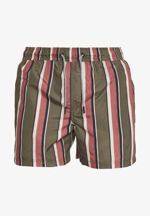 ARUBA SWIM STRIPE - Swimming shorts - olive night
