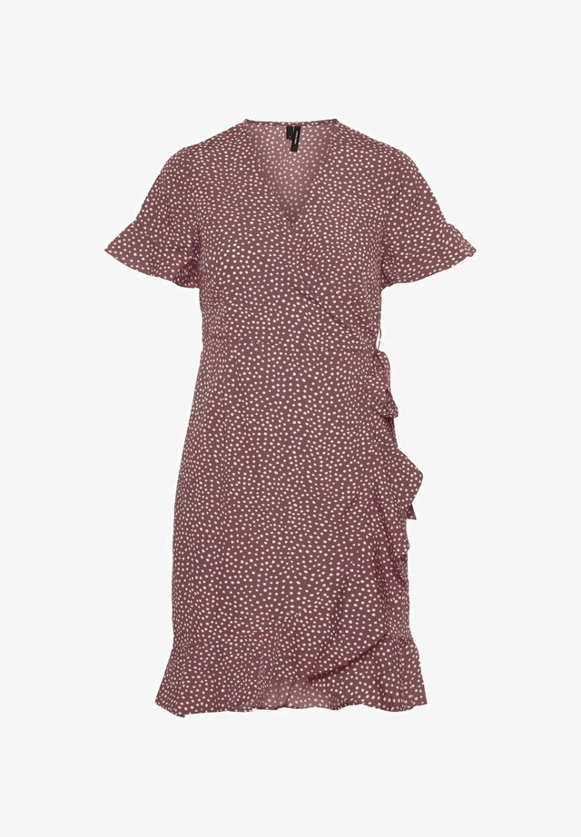 GEPUNKTETES WICKEL - Day dress - rose brown