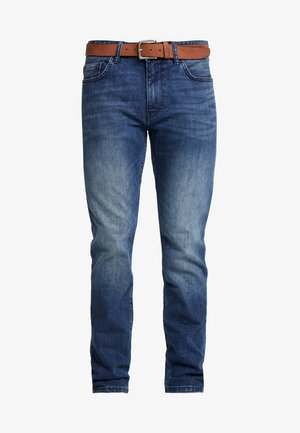 Straight leg jeans - blue denim stretch