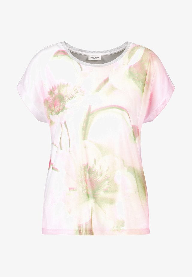T-shirt print - weiß azalea palm druck
