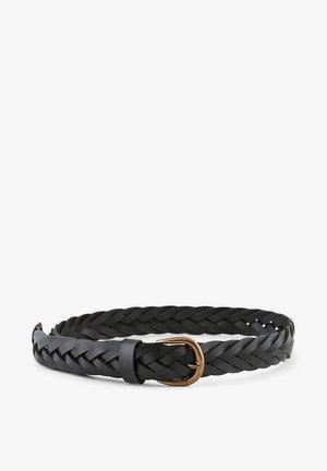 Braided belt - black