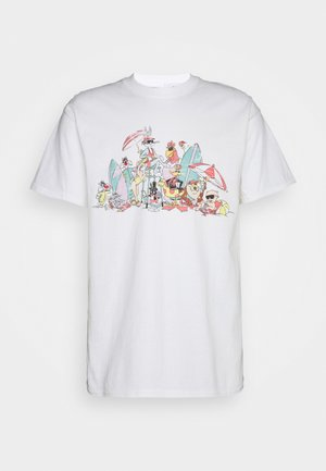 80S BEACHY LOONEY TUNES GRAPHIC UNISEX - Camiseta estampada - white