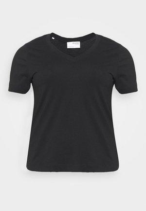 SLFANDARD NECK TEE - Basic T-shirt - black