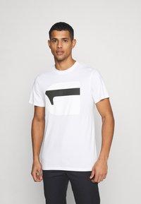 G-Star - 3D NO.1 LOGO+ R T S\S - Print T-shirt - compact white - 0