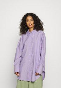 ARKET - SHIRT - Button-down blouse - purple stripe - 0