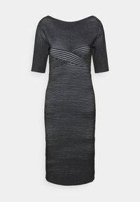 Hervé Léger - PLAITED TRANSFER BUSTIER DETAIL DRESS - Jumper dress - black alabaster - 3