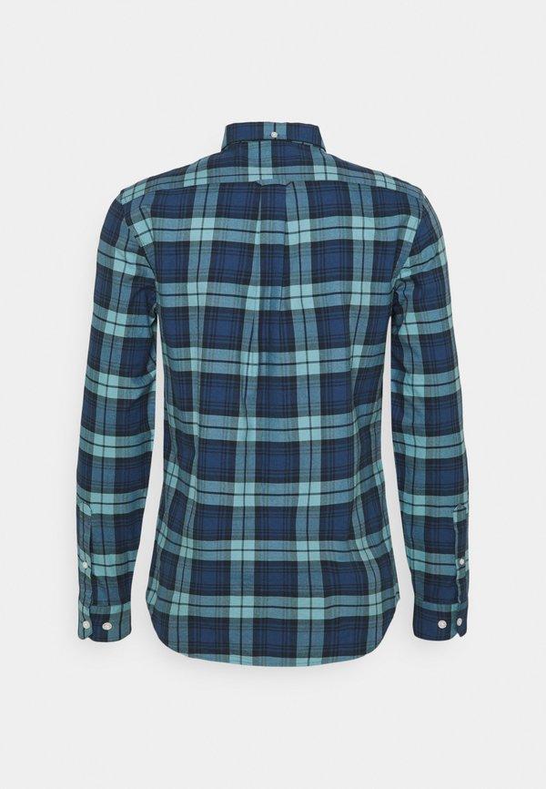 Farah BREWER CHECK - Koszula - reef green/jasnoniebieski Odzież Męska WKNN