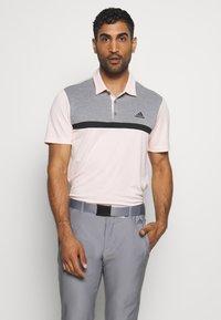 adidas Golf - PERFORMANCE SPORTS GOLF SHORT SLEEVE  - Polotričko - pink tint/grey melange - 0