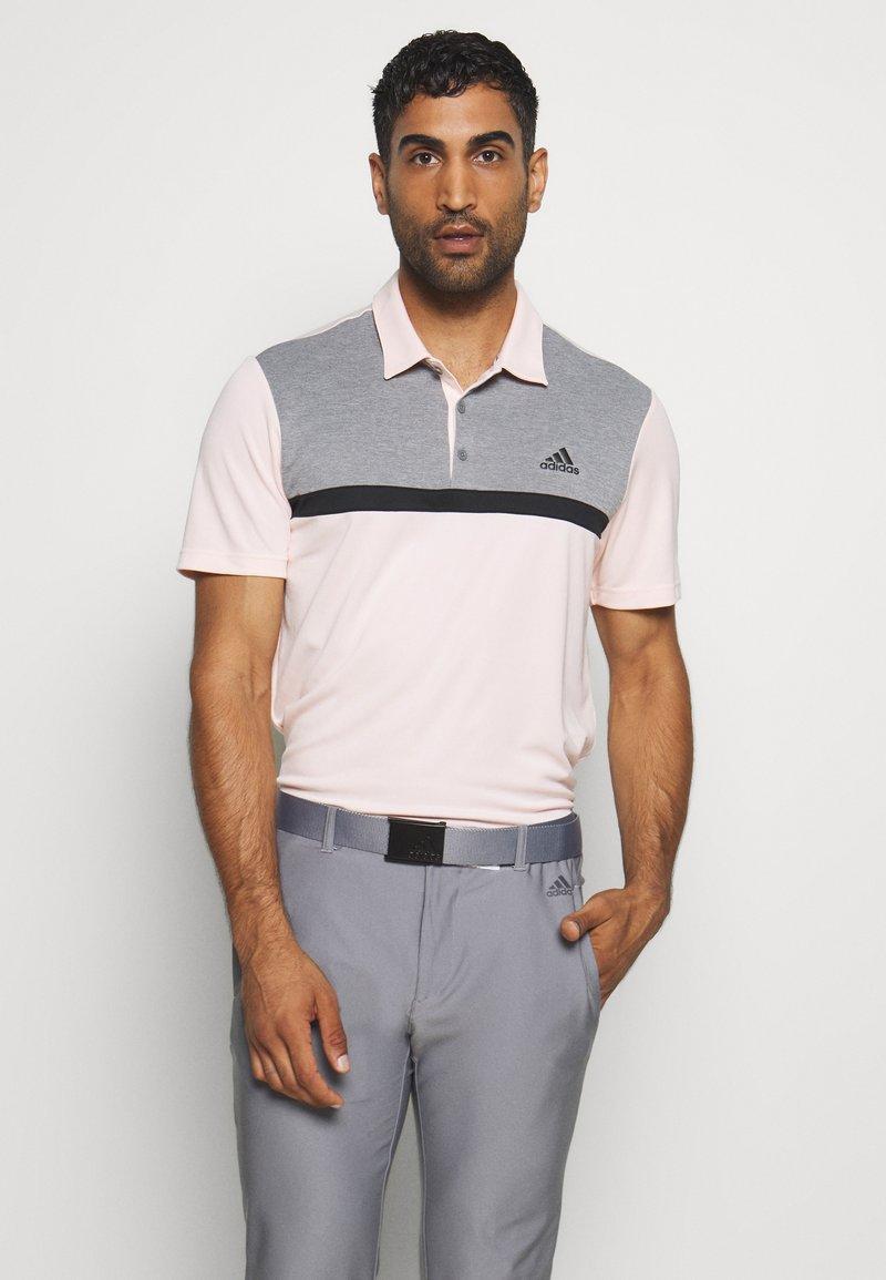 adidas Golf - PERFORMANCE SPORTS GOLF SHORT SLEEVE  - Polotričko - pink tint/grey melange