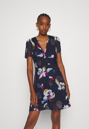 V NECK DRESS - Day dress - eclipse